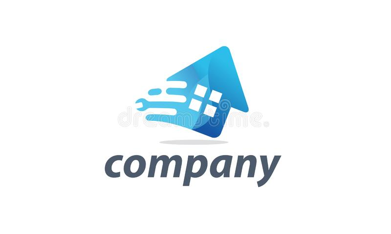 Simple fast Home Service logo stock images