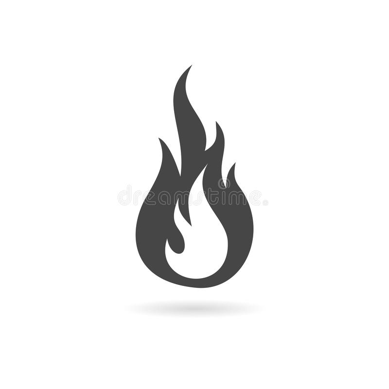 Simple fire icon. Vector icon royalty free illustration