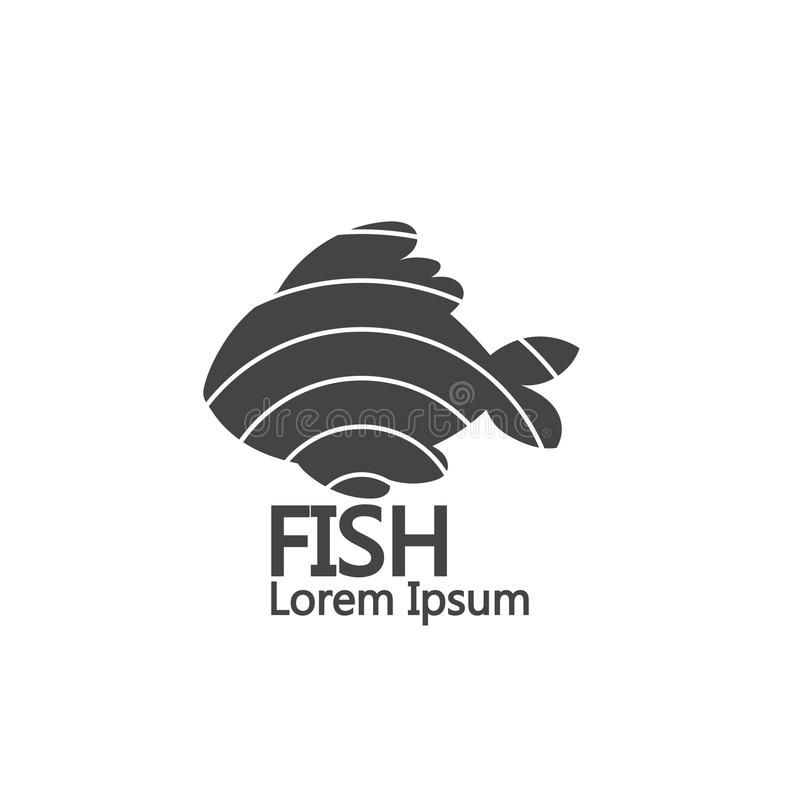 simple fish logo. isolated on white background royalty free stock images