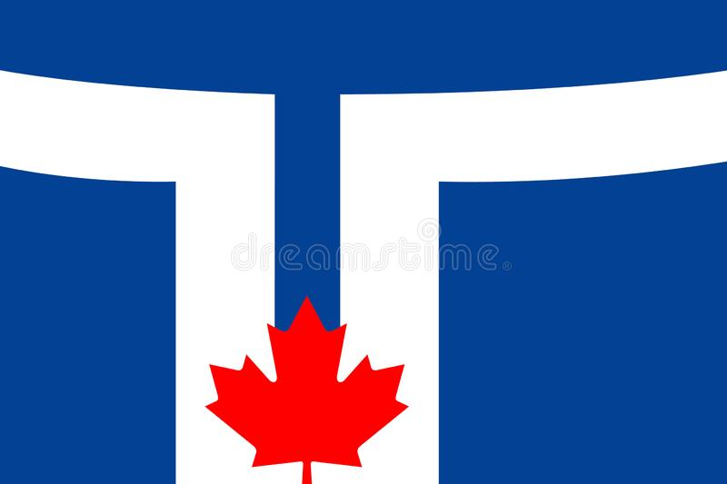 Simple flag of City of Canada. Simple flag of Toronto. City of Canada. Correct colors, proportion 2 3 vector illustration