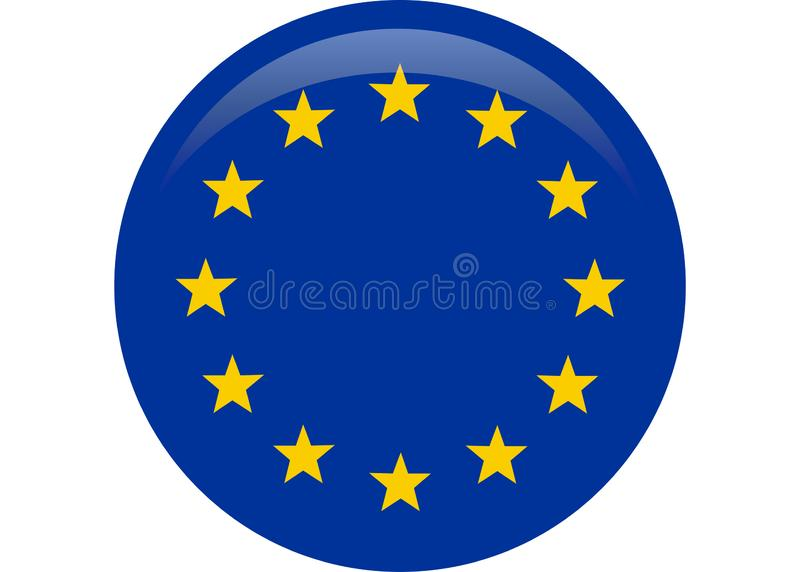 Simple flag of European Union. Correct size, proportion stock illustration