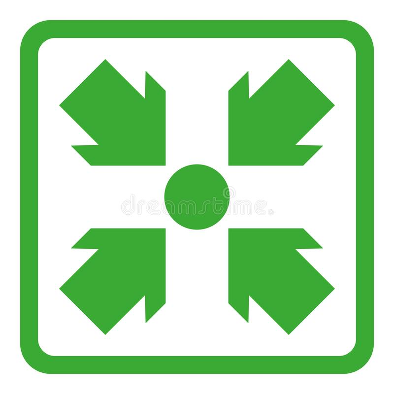 Simple flat assembly point or meeting point icon royalty free illustration