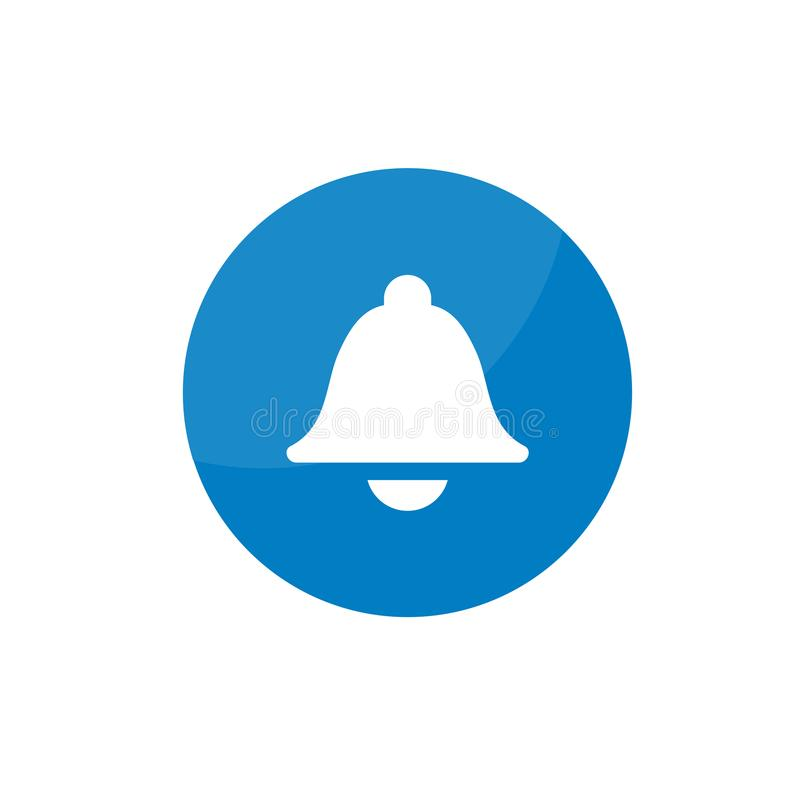 Simple flat bell notification time icon vector illustration