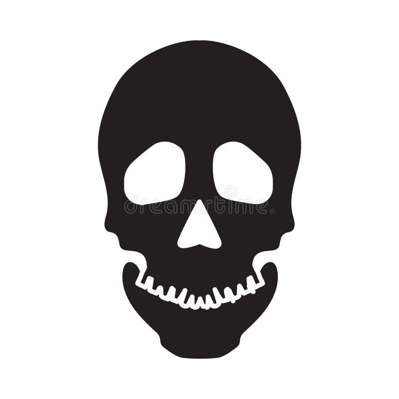 Flat black skeleton icon. Simple flat black skeleton icon vector royalty free illustration