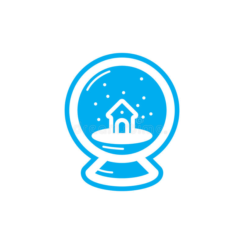 Flat color snowball icon royalty free illustration