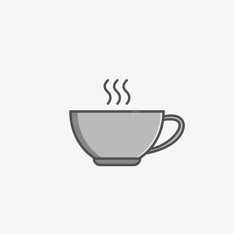A simple flat icon of a cup royalty free stock images