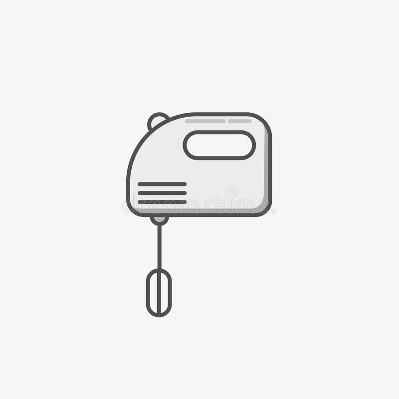 A simple flat icon for mixer to fluff and mix different food vector illustration