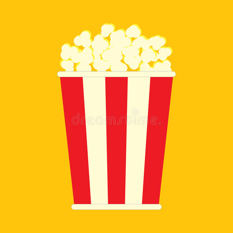 Download Simple flat popcorn bag stock vector. Image of original - 83721868