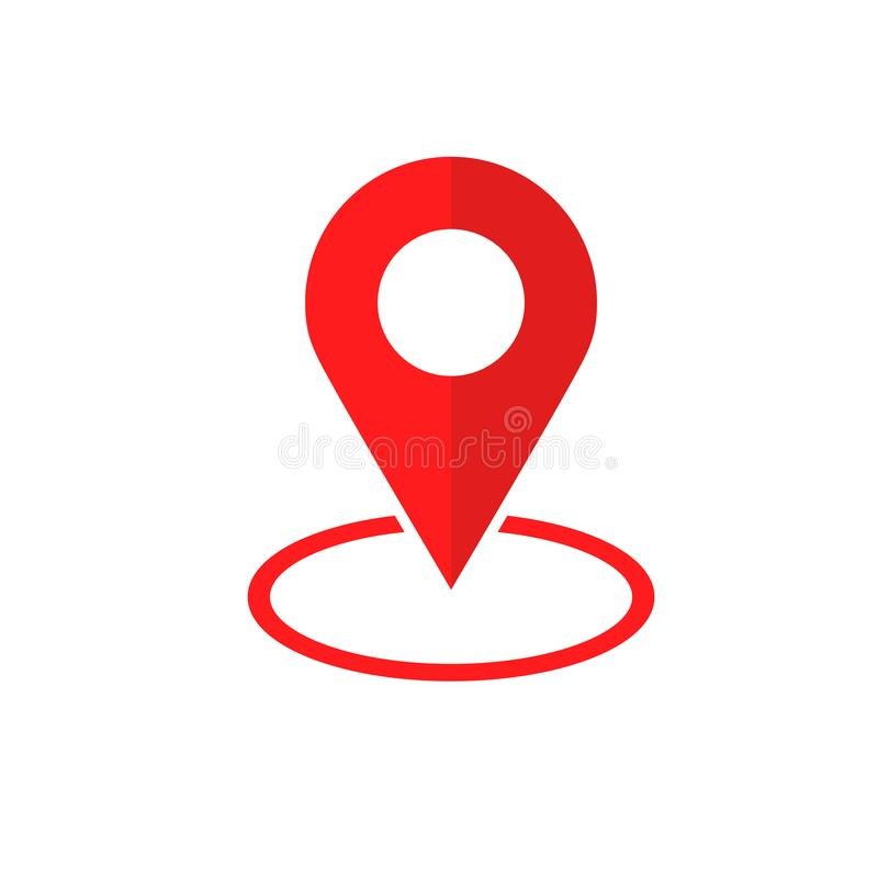 Simple Flat Red minimalist locator App royalty free illustration