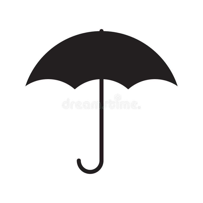 Simple flat umbrella icon vector illustration