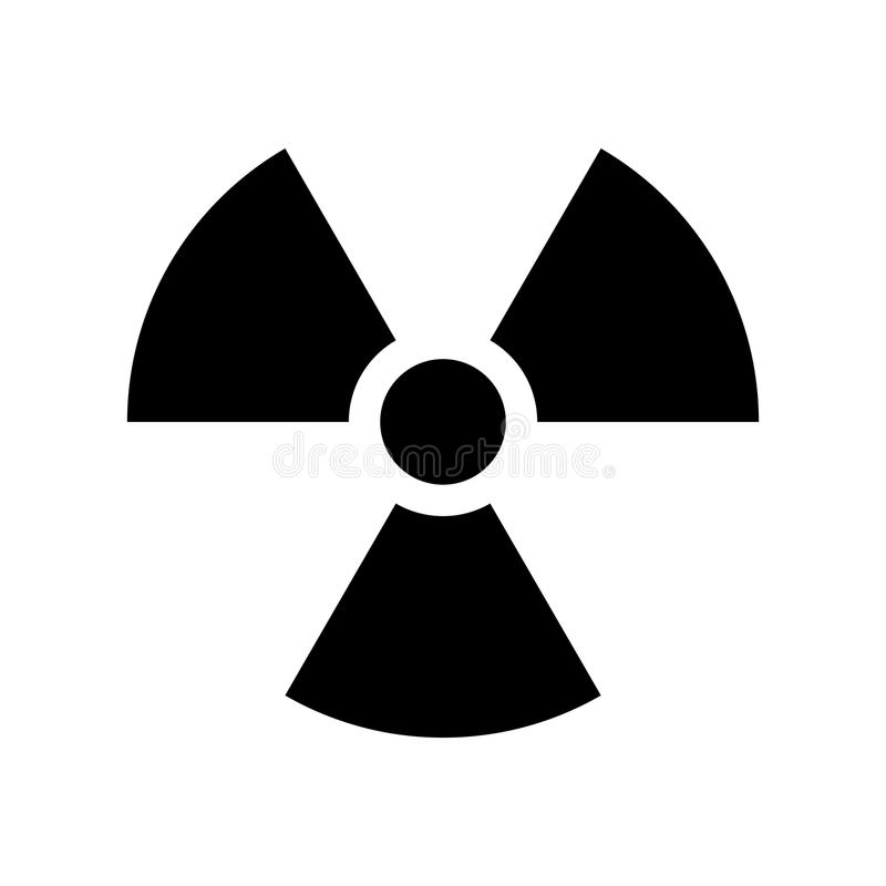 Simple flat nuclear icon vector illustration