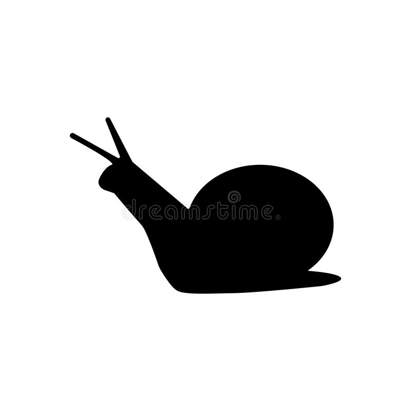 Simple snail silhouette stock illustration
