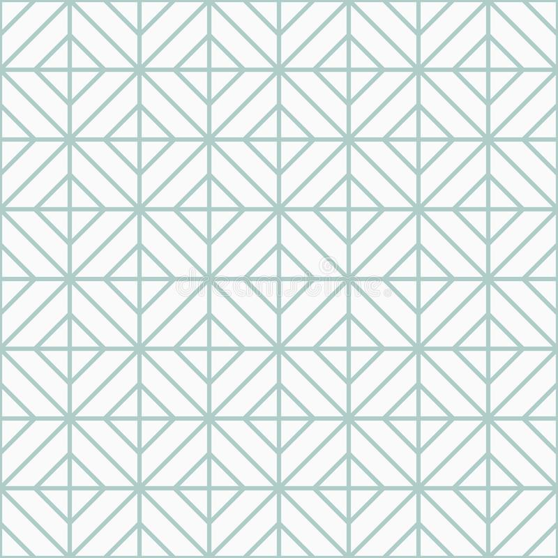 Simple floor tile pattern, abstract geometric seamless background. Portuguese ceramic tiles vector illustration