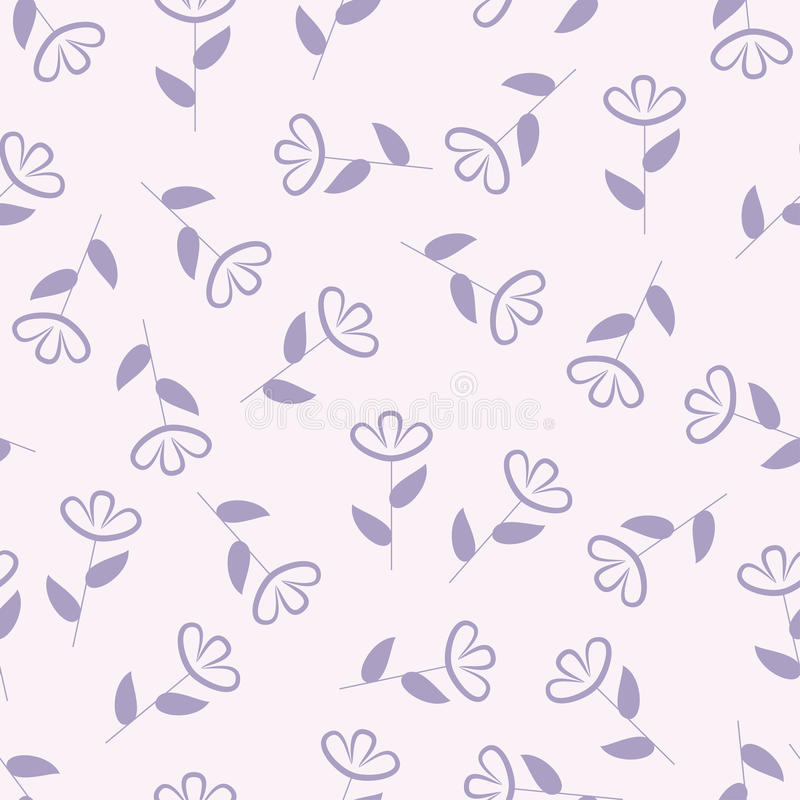 Simple floral seamless pattern, flower background, vector vector illustration