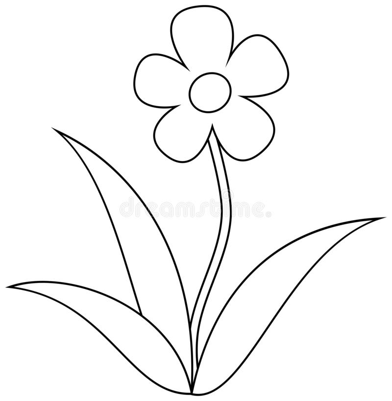Simple Flower Clipart Coloring Book For Children Stock Vector Illustration Of Decoration Nature 142216301