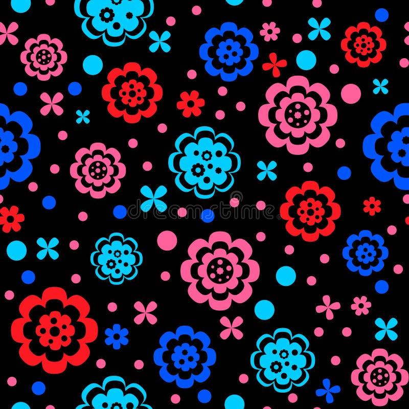 Simple flower pattern vector illustration