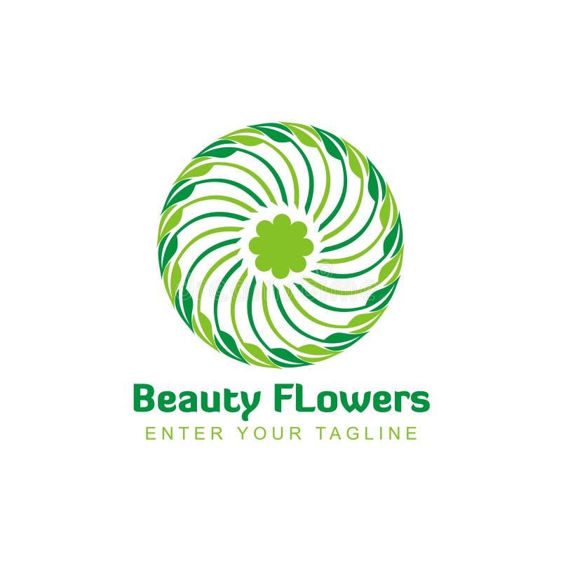 Simple flower shaped logo inspiration vector illustration