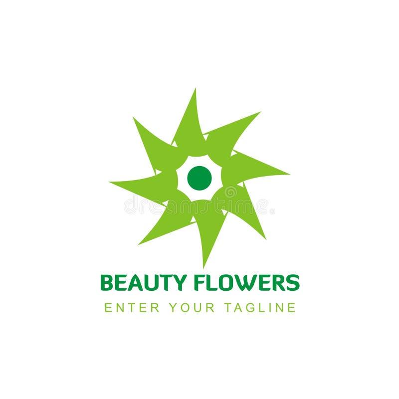 Simple flower shaped logo inspiration royalty free illustration