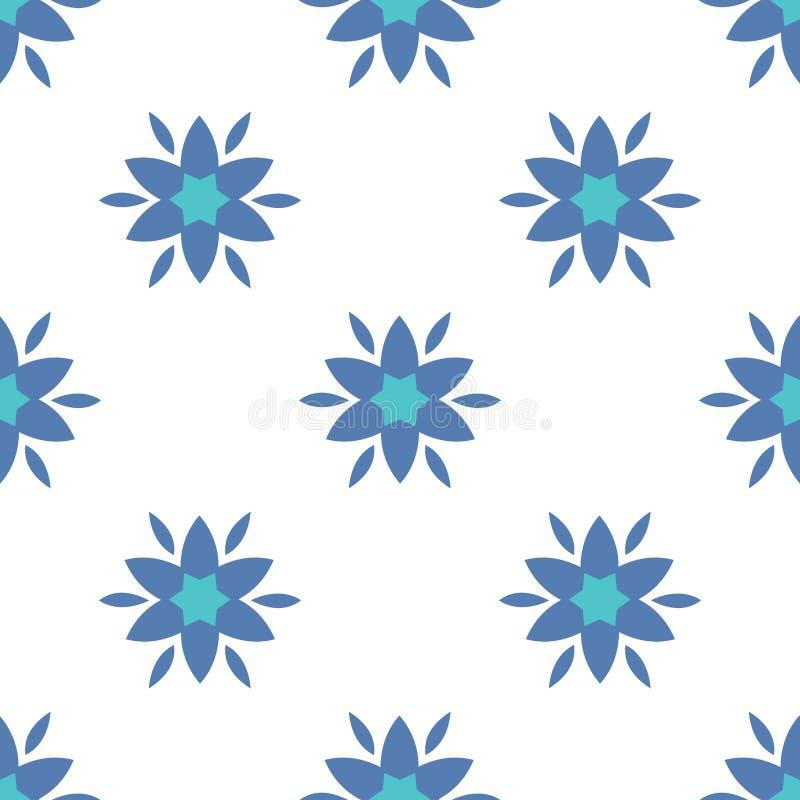 Simple flowers seamless pattern stock illustration