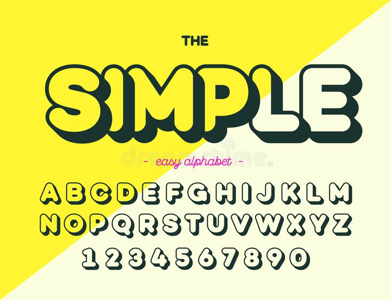 Download Simple Font Modern Typography Alphabet Trend Style For Printing Decoration Stock Vector