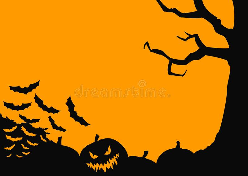 Simple frame for halloween graphics royalty free stock image
