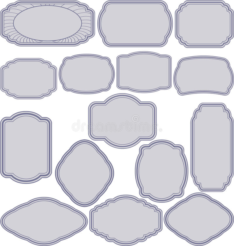 Download Simple frames stock vector. Illustration of border, silhouette - 26508936