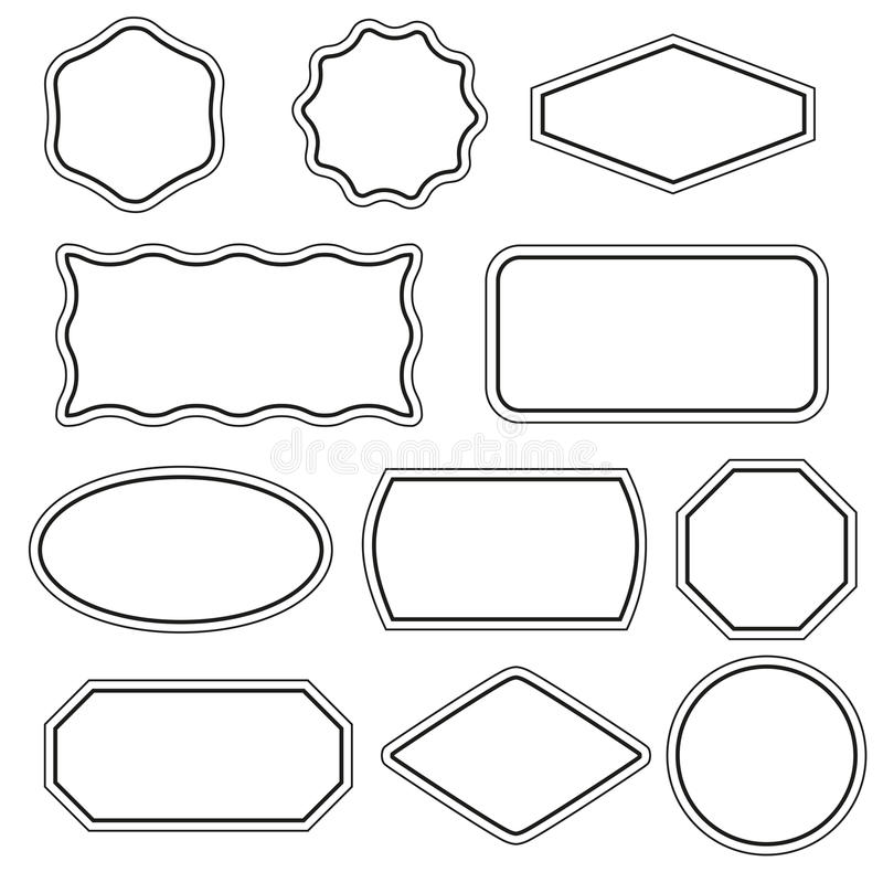 Simple frames set stock vector. Illustration of design - 78057191