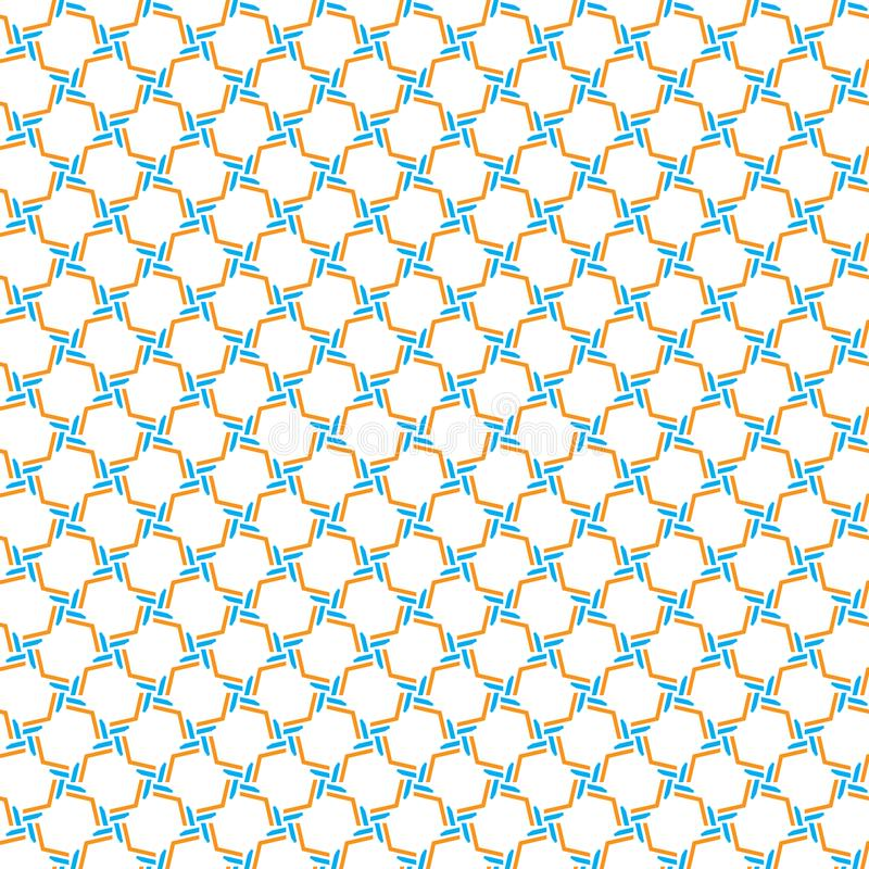 Simple Geometric Abstract Grid Fence Pattern Fabric Vector Illustration Seamless royalty free illustration
