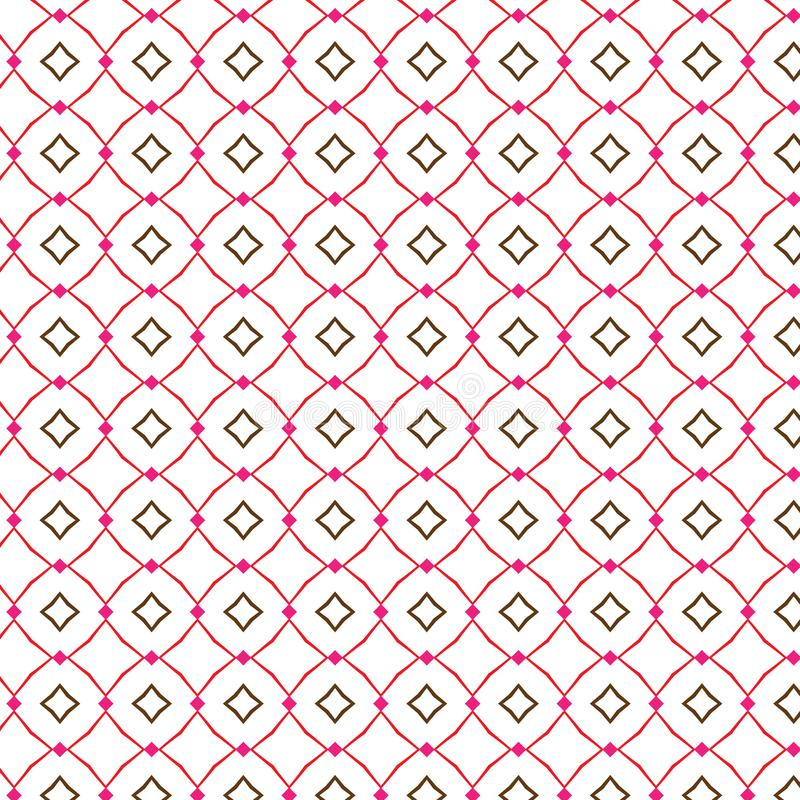 Simple Geometric Abstract Rhombus Fence Pattern Fabric Vector Illustration Seamless vector illustration