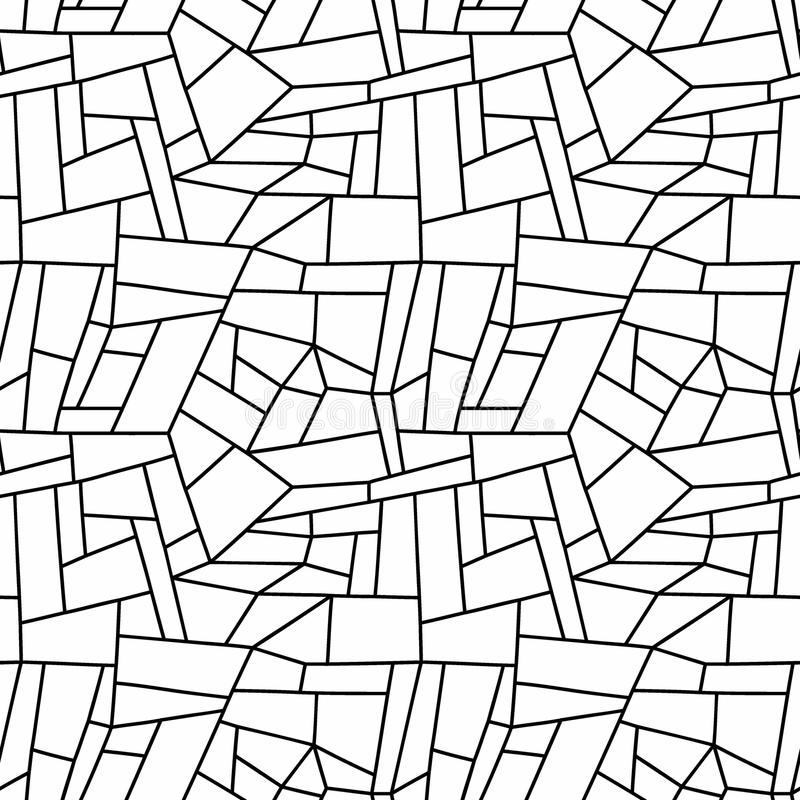 Perfect Download Simple Geometric Pattern. Seamless Black And White Background.  Stock Vector   Illustration Of
