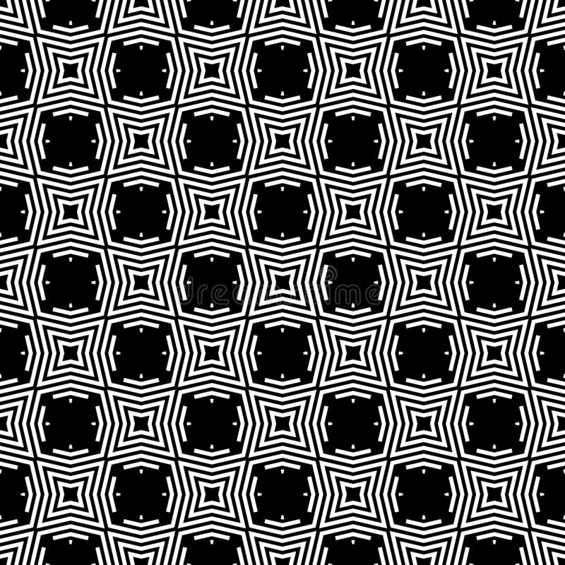 Simple geometric stripe diagonal,dots black and white seamless vector print royalty free illustration