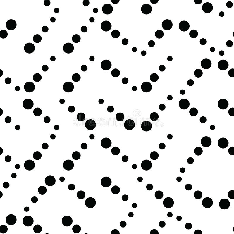 Simple geometric truchet pattern background in classic black and white stock illustration