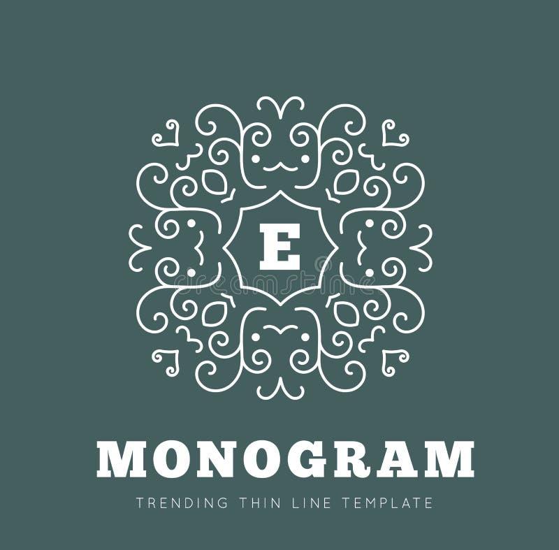 Simple and graceful monogram design template vector illustration