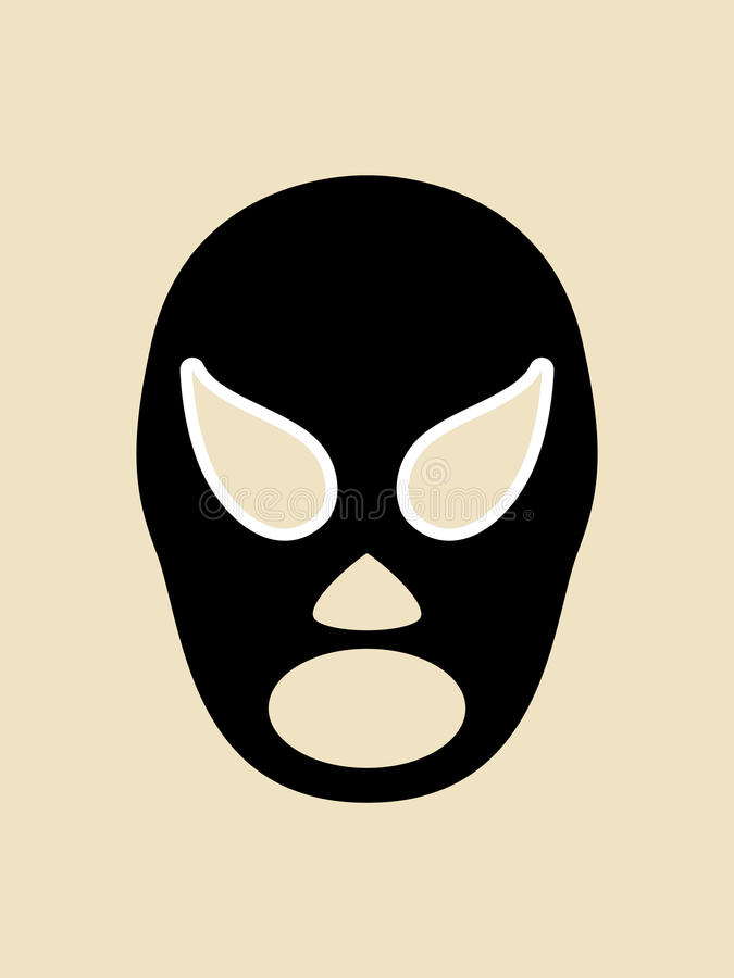 Simple graphic of a wrestler mask. Simple graphic of a mexican wrestler mask stock illustration