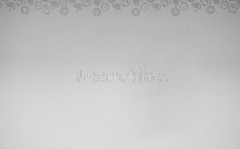 Simple gray illustration with icons. vector illustration