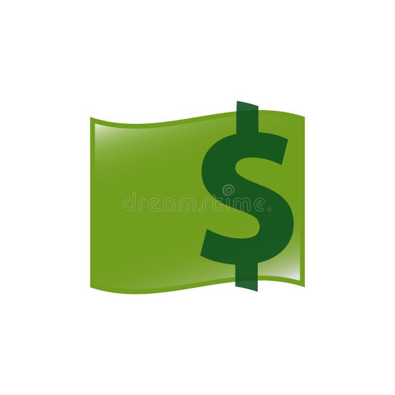 simple green money dollar logo design sign Icon symbol illustrations vector illustration