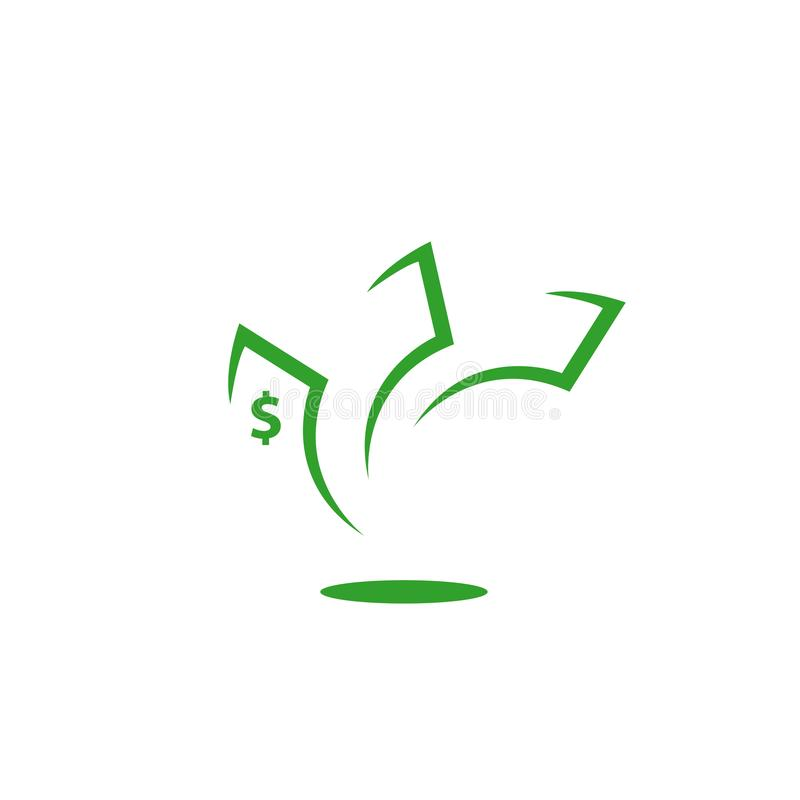 simple green money dollar sign Icon logo vector stock illustration