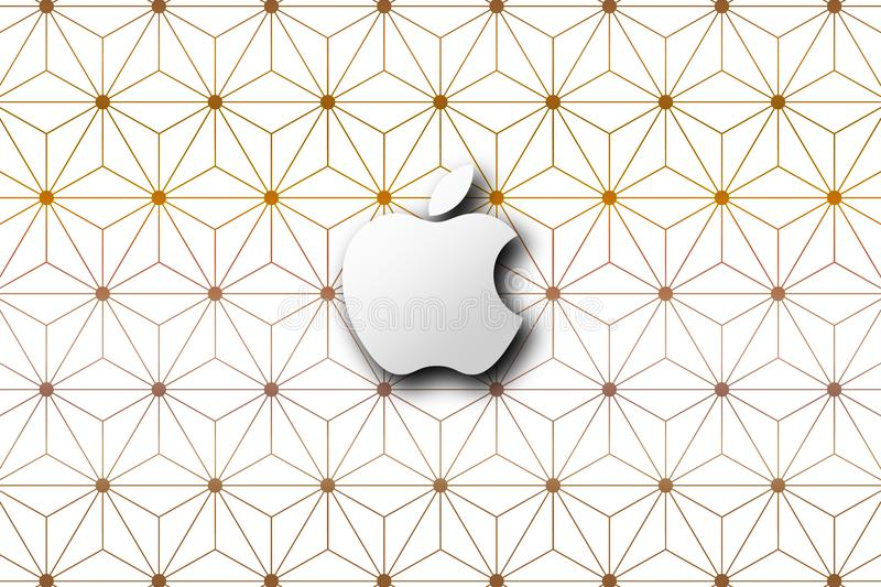 Simple Apple brand logo abstract wallpaper background royalty free stock photography