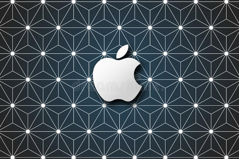 Simple Apple brand logo abstract wallpaper background royalty free stock photos
