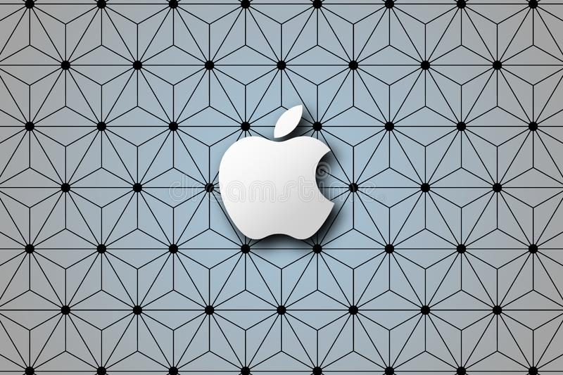 Simple Apple brand logo abstract wallpaper background stock images