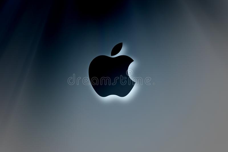 Simple Apple brand logo abstract wallpaper background royalty free stock images