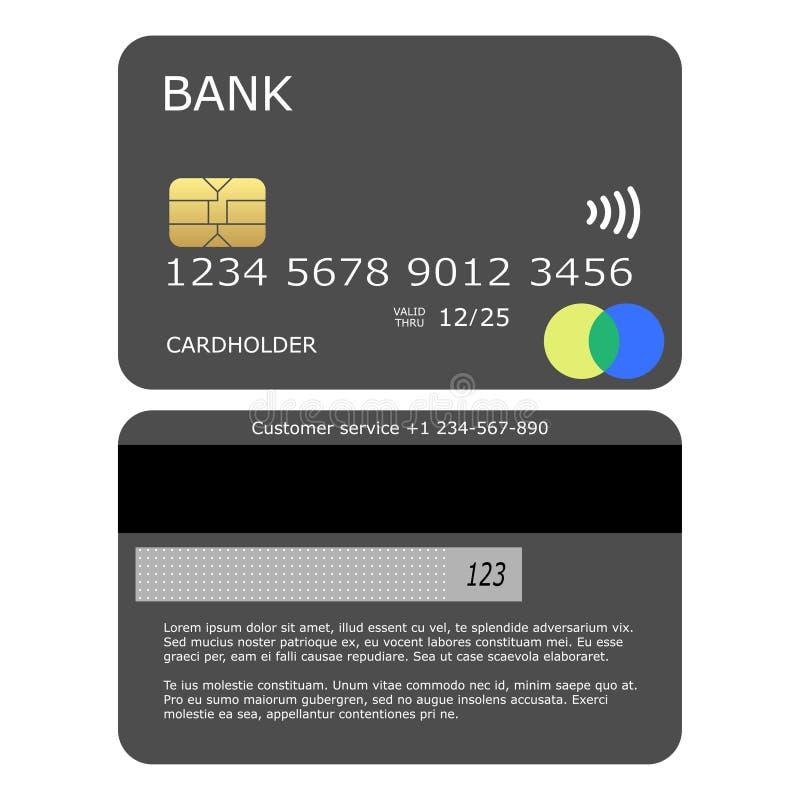 Simple grey mock up credit card vector vector illustration