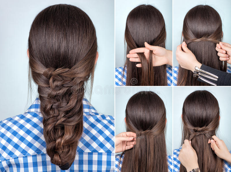 Download Simple Hairstyle Tutorial Stock Photo. Image Of Fast   85539294