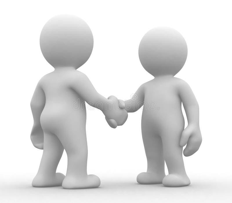 Simple handshake royalty free illustration