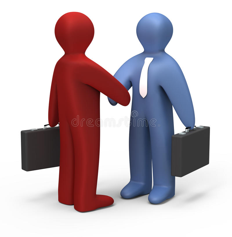 Download Simple handshake stock illustration. Image of corporate - 16782454