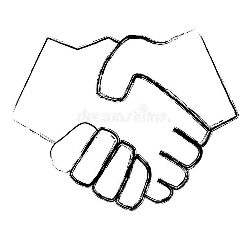 Simple handshake stock illustration