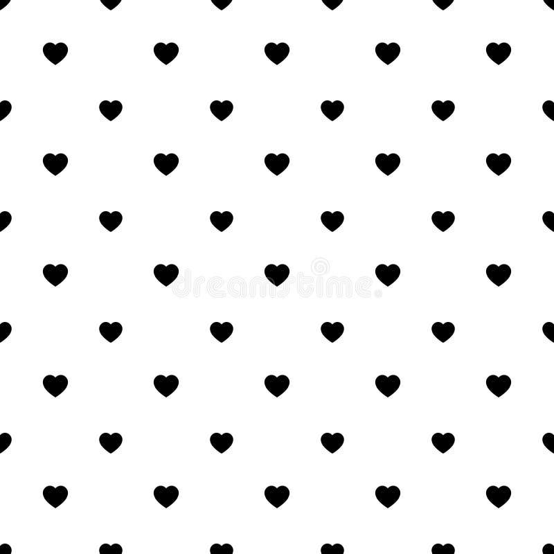 simple heart shape seamless pattern diagonal arrangement love romantic theme background black white vector wallpaper 127014511