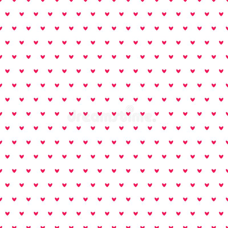 Simple hearts seamless vector pattern. Valentines day background. Flat design endless chaotic texture made of tiny heart silhouett stock illustration