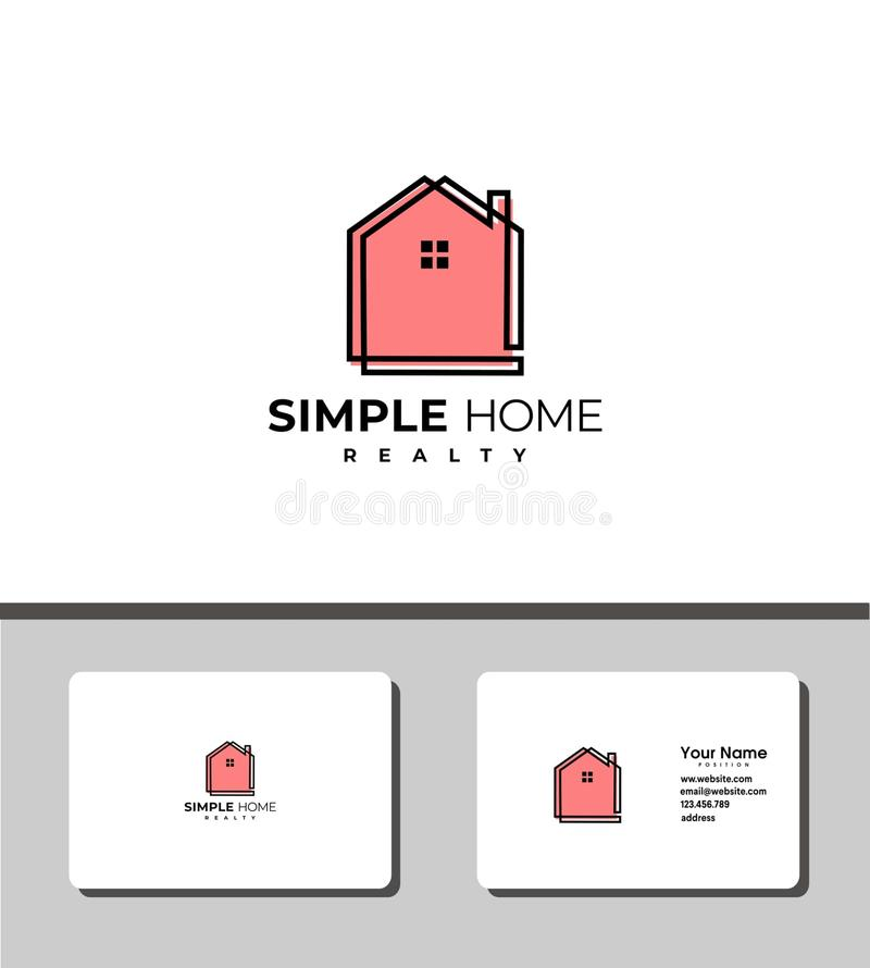 Simple home sweet home logo royalty free illustration