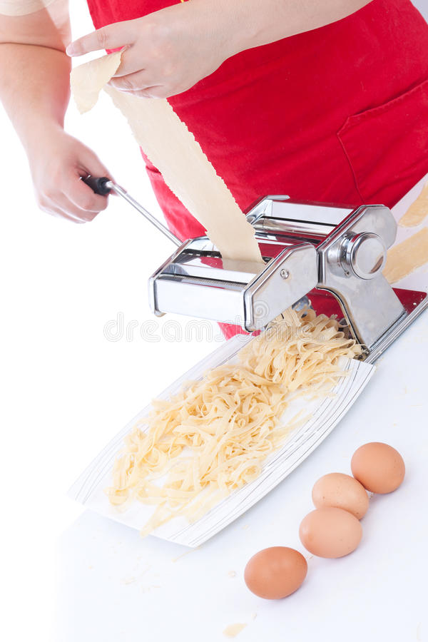 Download Simple homemade pasta stock photo. Image of pasta, making - 21924464